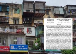Hà Nội: Bổ sung chính sách đặc thù cho cải tạo chung cư cũ