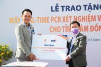 Hội Doanh nhân trẻ Việt Nam và Tập đoàn TTC trao tặng máy xét nghiệm virus SAR-COV-2 cho tỉnh Lâm Đồng